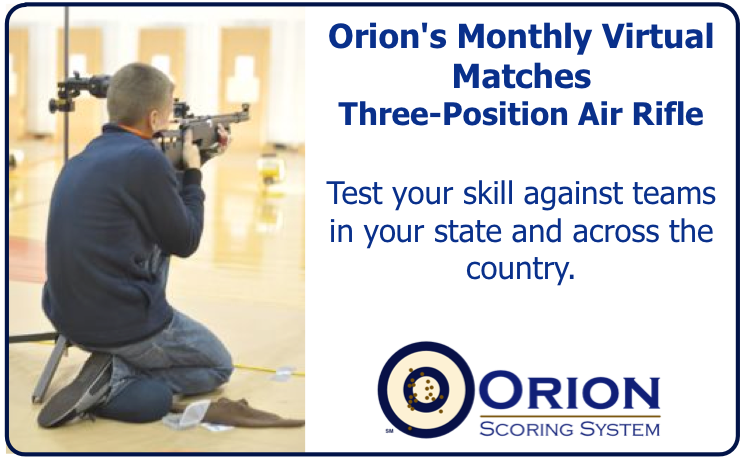 Orion's Series of Virtual Matches: Three-Position Air Rifle