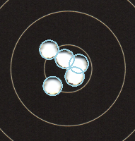 Air Pistol scoirng 5 Shots